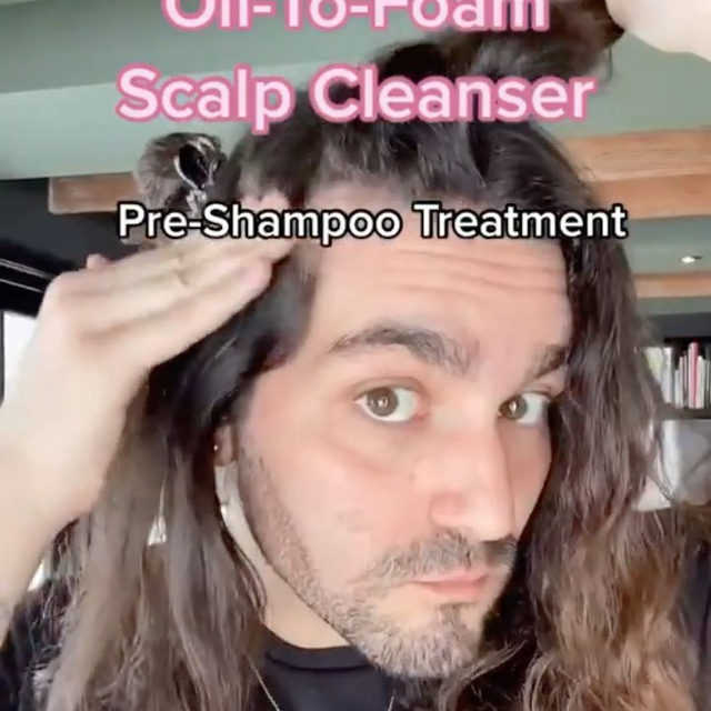From our friends at @amika: Happy scalp, happy hair ✨. @mattloveshair shows us how to use the reset pink charcoal scalp cleansing oil—it's a purifying pre-wash 💆that breaks down product build-up, absorbs toxins, + refreshes the scalp, leaving it healthy + hydrated 💧  Available at Sephora.     amika Reset Charcoal Detoxifying Scalp Cleansing Oil