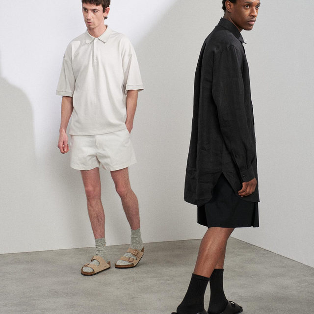 New Menswear Drop. Knitted polos, cotton shorts and oversized shirting   Link in bio. #Raey