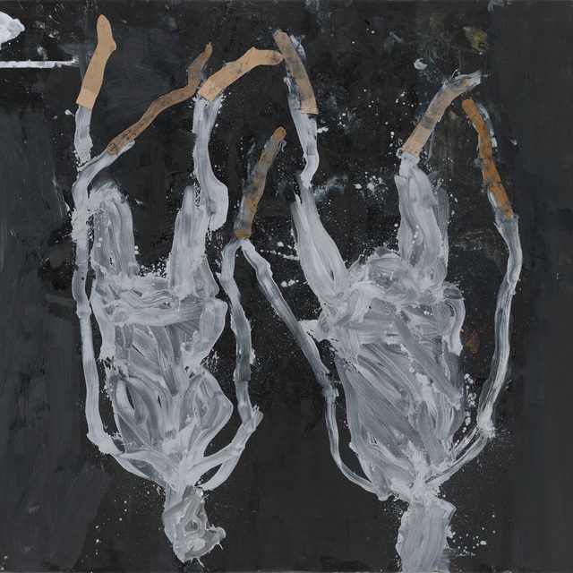"#GeorgBaselitz: Gagosian is pleased to present ""Springtime,"" an exhibition of new paintings by Georg Baselitz, opening May 4 at 555 West 24th Street, New York.  Just as the exuberant provocations of Dada emerged out of the catastrophes of the First World War, so does Baselitz's title herald a spirited reawakening from the ravages and restrictions of the current pandemic. In this new series, he has, for the first time, introduced the idea of collage by gluing pairs of nylon stockings onto canvases and painting over and around their diaphanous forms in white, black, or gold. In some paintings, these stocking-figures remain distinct from their backgrounds, while in others the printed impressions of paint-soaked nylons replace the hosiery themselves, their stretched forms snaking from multihued ""skirts"" of expressive splatters, like plants from undergrowth.   ""Springtime"" overlaps with the exhibition ""Archinto"" at the Museo di Palazzo Grimani, Venice, and anticipates Baselitz's retrospective at the Centre Pompido"