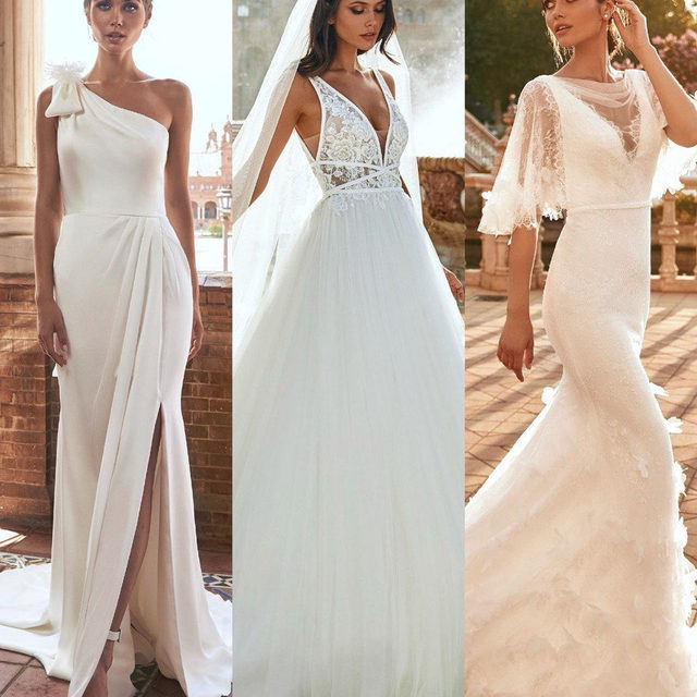 Meet the Marchesa's signature details of the New spectacular #MarchesaForPronovias Collection. Which one is your favourite silhouette: 1, 2 or 3? In stores now. Book your appointment: www.pronovias.com/book-appointment #Pronovias