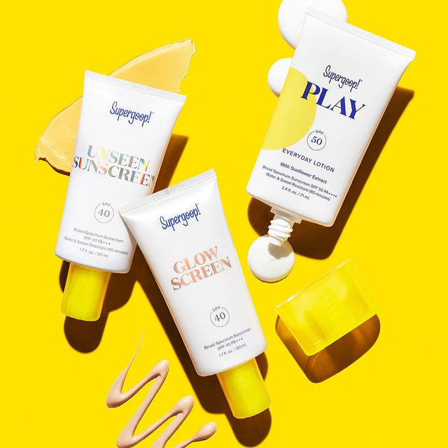 Your daily routine *needs* sun protection 😎, and @supergoop is here to help ☀️ Whether you prefer your sunscreen with a weightless, invisible finish ☁️or a shimmering, subtle glow ✨, you'll love their bestselling SPF for face and body—all in clean formulas 🌿  PLAY Everyday Lotion SPF 50 PA++++  Glowscreen Sunscreen SPF 40 PA+++  Unseen Sunscreen SPF 40 PA+++