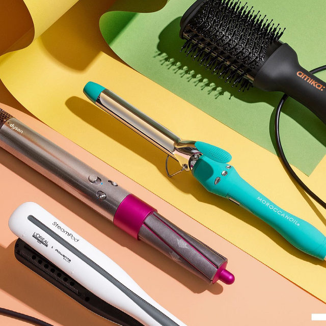 If you can't get to the beach, the easiest way to get effortless waves is to use the right tools—like these ones 🏖 Which are you upgrading your hair tool collection with?  . . . @Amika amika Hair Blow Dryer Brush  @dysonhair dyson Airwrap Styler  @Moroccanoil Moroccanoil Everlasting Curl Titanium Curling Iron  @lorealpro L'Oreal Professionnel Steampod Flat Iron & Styler