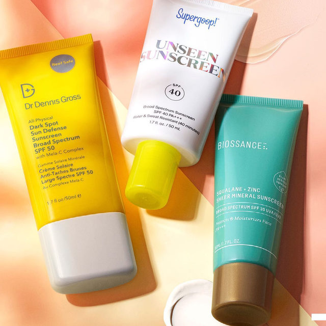 🎶☀️ This year's collection of Sephora's most-loved sunny-weather essentials includes the brand-new @drdennisgross All-Physical Dark Spot Sun Defense SPF 50, the cult-favorite @supergoop Unseen Sunscreen, and the super-sheer @biossance Squalane + Zinc Sheer Mineral Sunscreen 😎   Squalane + Zinc Sheer Mineral Sunscreen SPF 30 PA +++  All-Physical Dark Spot Sun Defense Sunscreen Broad Spectrum SPF 50  Supergoop! Unseen Sunscreen SPF 40 PA+++