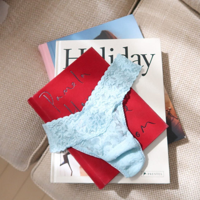 Name a better duo than April showers and Raincloud Blue Signature Lace.  #hankypanky #escapetodreamland #dreamsofparadise #spring2021  (cc: @pantybar_official)