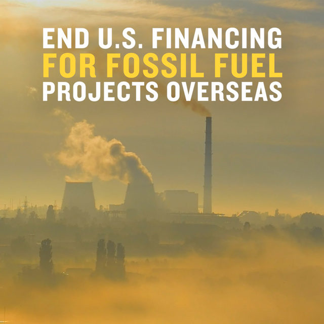 The U.S. must stop financing fossil fuels overseas! 💯 By promoting fossil fuel projects overseas—especially gas infrastructure—the United States is making it harder for countries to decarbonize. The U.S. must stop subsidizing fossil fuel companies at the expense of our climate and public health. Nearly 450 organizations have called on the Biden administration to immediately end all U.S. public financing for fossil fuels, including natural gas. 📣 Add your voice! 📣 Tell the Biden administration to withdraw ALL U.S. funding for international fossil fuel development and commit to pushing for a just transition to 100% clean energy around the world. TAKE ACTION via the link in our bio! #CleanEnergy #FossilFuels #Climate #ClimateChange #PublicHealth