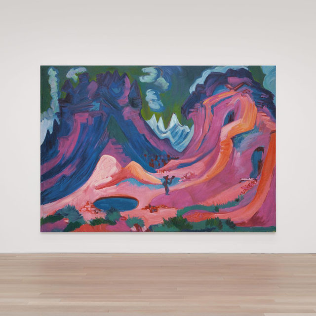"#RudolfStingel: Now open at Gagosian, 980 Madison Avenue, New York, through May 15.  __________ #Gagosian Rudolf Stingel, ""Kirchner Amselfluh 1922,"" 2020 © Rudolf Stingel. Photo: courtesy the artist"