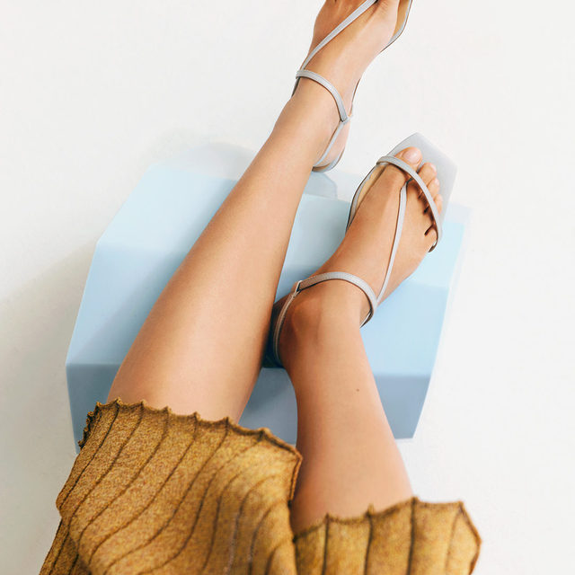 STEP IT UP: Simply chic, the barely-there sandal makes any outfit instantly more refined   Tap the link in bio to shop at #NETAPORTER
