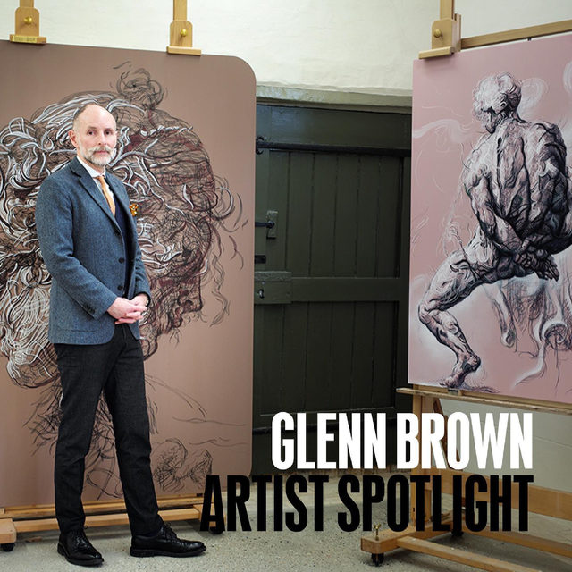 #GagosianSpotlight: This week, Glenn Brown features in Artist Spotlight. Mining art history and popular culture, Brown has created an artistic language that refuses categorization, combining a wide range of periods from art history through reference, appropriation, and precise attention to detail. His mannerist impulses stem from a desire to breathe new life into past images; they are treasuries of raw material, offering countless images, titles, and techniques to be combined and deconstructed, producing complex and sensuous works of art that are resolutely of our time.  A new work by the artist will be unveiled on gagosian.com on Friday, April 30, at 6am EDT. For updates or to learn more, follow the link in our bio. __________ #GlennBrown #Gagosian @glennbrownofficial Photo: Edgar Laguinia
