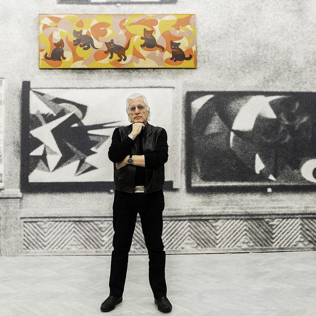 """A year after the passing of the eminent art historian and curator Germano Celant, a new book dedicated to thirty-four major exhibitions he curated between 1967 and 2018 has been published. Titled """"The Story of (my) Exhibitions,"""" the anthology is one of Celant's last projects, which he had been working on for many years. It is published by Silvana Editoriale in collaboration with Studio Celant and is available from tomorrow at silvanaeditoriale.it.   Gagosian is proud to have collaborated with Celant on the first comprehensive US retrospective of the work of Piero Manzoni and an unprecedented survey of the work of Lucio Fontana, which included six groundbreaking """"Ambienti Spaziali"""".  __________ #GermanoCelant #StudioCelant #Gagosian @silvanaeditoriale @studiocelant @arge_celant @fondazioneprada @fondazioneluciofontana (1) Germano Celant in """"Post Zang Tumb Tuuum. Art Life Politics: Italia 1918-1943,"""" Fondazione Prada, Milan, 2018. Photo: Ugo Dalla Porta; (2) Installation view, """"Manzoni: A Retrospective,"""" Gagosi"""