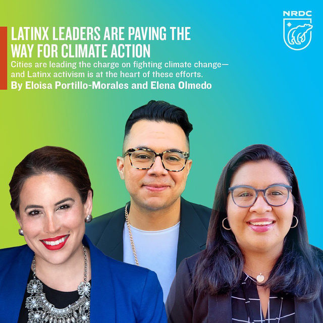 Cities are leading the charge on climate action—reimagining how streets can be used, passing bold climate legislation, and creating green, equitable jobs. 🌆At the core of many of these efforts are Latinx leaders, whose activism has been instrumental in paving the way to progress.   More than half of Latinxs in the U.S. live in the country's three most climate-vulnerable states: California, with its devastating droughts and wildfires; Texas and its extreme weather; and Florida, which in recent years has seen a dramatic increase in flooding and sea level rise. It should come as no surprise, then, that the Latinx community is more worried about the climate crisis and more willing to take action compared to other communities. ⤵️  Learn more about those taking action for climate justice and how to plug in through the 🔗 in bio. 📲  #ClimateAction #ActOnClimate #LatinxLeaders #LatinoLeadership #VocesVerde #GreenLatinos #USClimateCities #EJ #Sustainability #SocialJustice #RacialJustice #ClimateChange