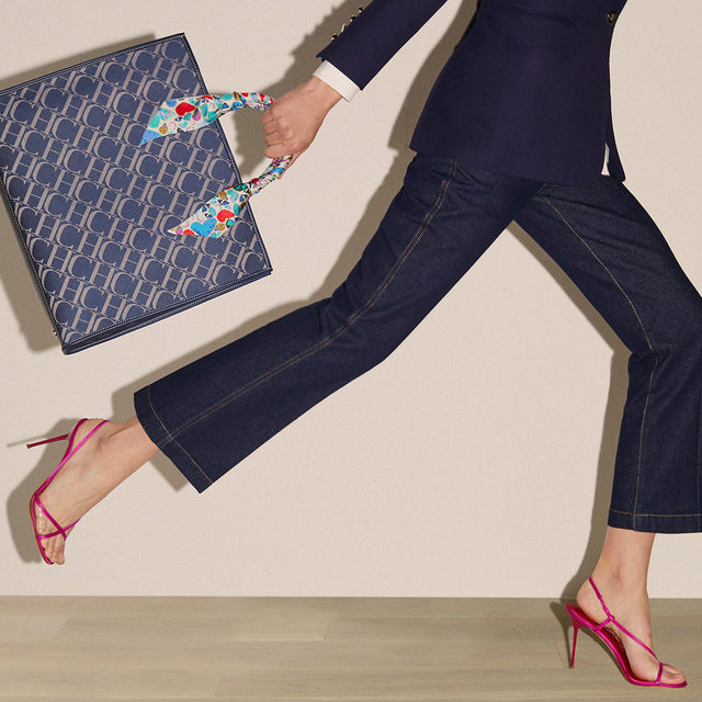 Running away from Monday. #CHShoppingChicBag will accompany you anywhere you go with your #CHShoeLove.