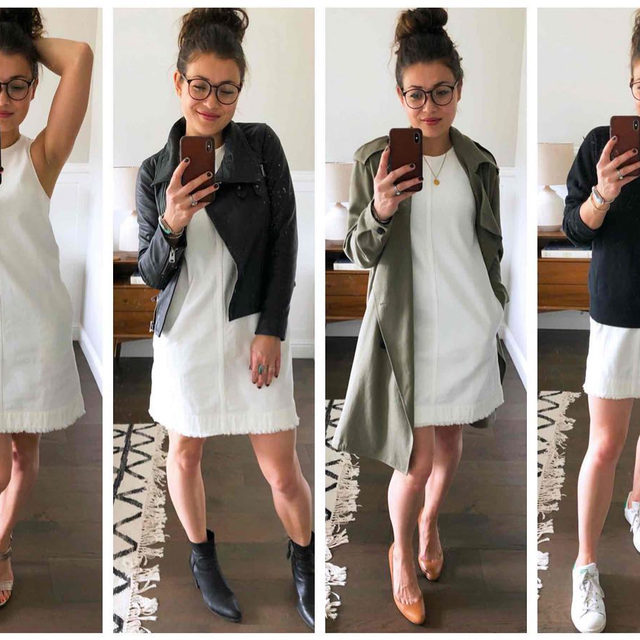 Two words: wardrobe essential. Em's super easy, totally versatile @jcrew white denim shift dress is re-stocked and on sale for just $60! She put it to the test last year, styling it up 11 ways (swipe to see some of those looks). Stay tuned...she's cooking up some more. . Click the link in our bio to scoop it up and to head to the blog for all 11 looks. . . . . . #dresses #shiftdresses #whitedresses #jcrew #fashion #ootd #fashionblogger #stylegoals #fashionedit #worthit #themomedit #themomeditstyle