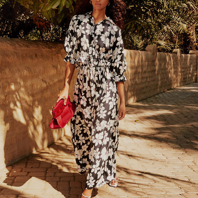 LOOKING BRIGHTER: Enliven your summer look with effortless dresses that stand out  Tap the link in bio to shop at #NETAPORTER