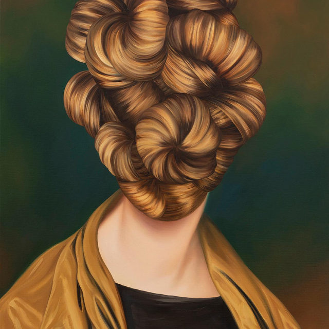 """#FriezeArtFair: """"That these sharply painted curls evoke seashells or finely wrought metalwork suggests that Ewa Juszkiewicz is as much engaged with still life as she is with portraiture."""" —Lisa Small  Paintings by Ewa Juszkiewicz feature at Gagosian's booth in Frieze New York at the Shed, which closes today. In a piece for """"Gagosian Quarterly,"""" Lisa Small, senior curator of European art at the Brooklyn Museum, considers the historical precedents for Juszkiewicz's painting practice. Follow the link in our bio to read the article or direct message us to receive a PDF with detailed information on these works. __________ #EwaJuszkiewicz #Gagosian #GagosianQuarterly @ewa_juszkiewicz @friezeofficial @theshedny (1) Ewa Juszkiewicz, """"Untitled (after Rembrandt Peale),"""" 2021; (2) Installation view, Frieze New York, 2021. Photo: Dawn Blackman; (3) Ewa Juszkiewicz, """"Untitled,"""" 2021. Artwork © Ewa Juszkiewicz"""