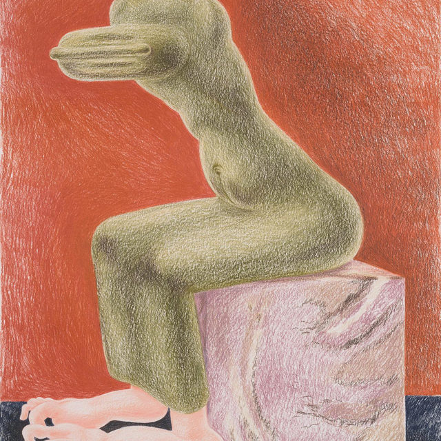"""#LouiseBonnet: """"Sphinxes,"""" an exhibition of new drawings and a new oil painting by Louise Bonnet, opens today at Gagosian, Basel.   Inspired by a wide variety of sources—from the old masters to Surrealism to the satirical drawings of R. Crumb—Bonnet's exaggerated forms walk a line between the beautiful and the grotesque, and between absurdist comedy and extreme psychological and physiological tension. In these new works, she positions the female body as a guardian of power, filtering the mythical creature's symbolic associations through contemporary perceptions of gender, sexuality, and identity. Poised to protect or slay, each of Bonnet's contorted sphinxes is rife with latent potential.   The gallery is also participating in the citywide cultural and art event Kunsttage Basel, which begins today and runs through Sunday. The gallery will be open from 10am to 6pm. Follow the link in our bio to learn more about the exhibition or to schedule an appointment. __________ #Gagosian #KunsttageBasel @louisebonnetstud"""