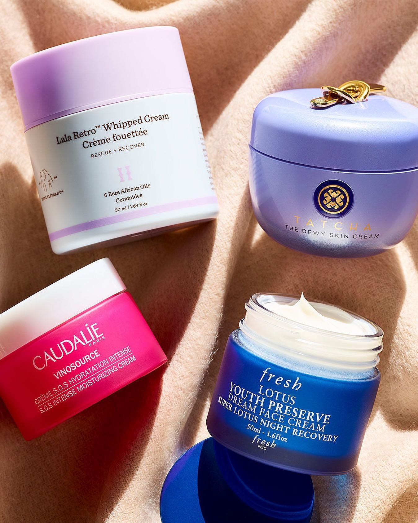 "Want to break up with dry skin? These ultra-hydrating bestsellers, packed with rich moisture and antioxidants, will see you through the toughest, ""where'd it go wrong?"" days until you're glowing again 🌟 . . . @drunkelephant, @tatcha, @caudalie, @freshbeauty  Plus Beauty Insiders, if you haven't already, use code 2019HOORAY to save in store or online via our Holiday Hooray event—happening now! Fill your basket before it ends Tuesday, 12/17."